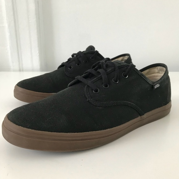 vans black and brown sole